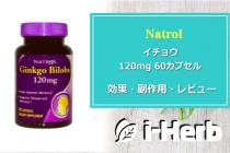 Natrol イチョウ 120mg 60カプセル 効果・副作用・レビュー